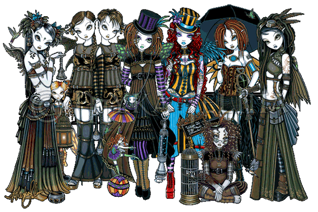 steampunk cybergoth fairies