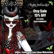 Gothic fairy, fantasy, tribal, steampunk, vampire art by Myka Jelina.  Jewelry, Prints and Paintings on ETSY.